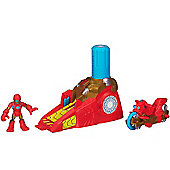 Playskool Heroes Marvel Super Hero Adventures Iron Man Racing Launcher