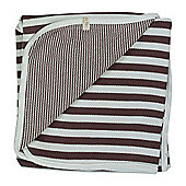 Pigeon Organics Reversible Blanket Broad Stripe (Brown)