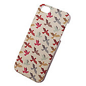 "Tortoiseâ""¢ Hard Protective Case, iPhone 5/5S,Coloured Bird design, Cream."