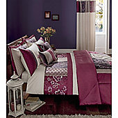 Catherine Lansfield Home Signature Border Patchwork King Size Duvet Cover Set