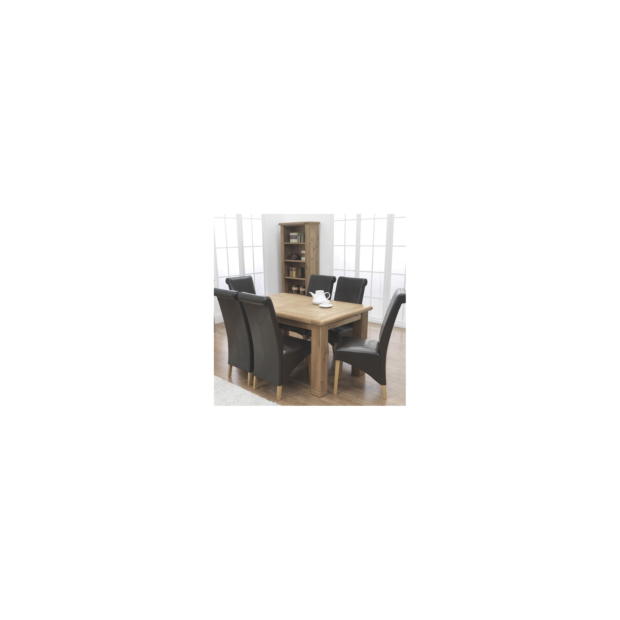 Furniture Link Danube 7 Piece Solid Oak Extending Dining Set with Corban Chair