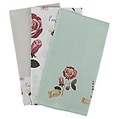 Pack of 3 Wild Garden Printed Tea Towels
