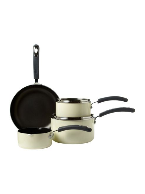 Linea Cream Principle 4Pc Pan Set In Cream