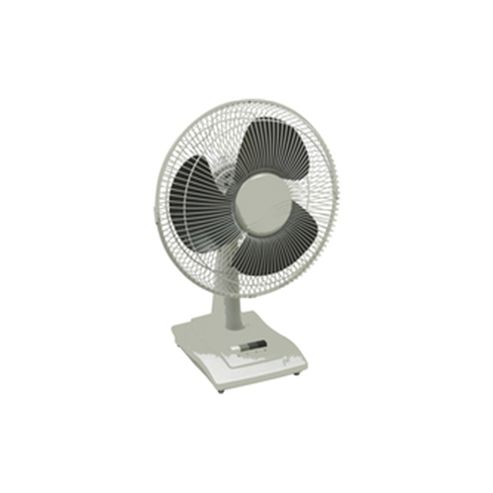 Q-Connect KF00403 16 inch Desktop Fan, 3 Speed - White