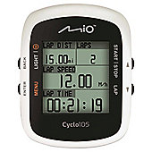 MIO Cyclo 105 Waterproof GPS Computer with Heart Rate Monitor Black