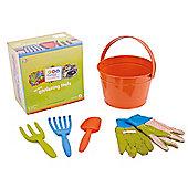 Twigz Childrens Gardening Tools 0831 My First Gardening Tools (Orange Bucket)