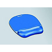 Fellowes Crystal Gel Mouse Pad / Wrist Rest Blue