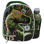 Smash Dinosaur Lunch Bag and Water Bottle Set