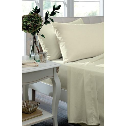 Catherine Lansfield Home 100% Cotton 200TC Egyptian Housewifes Pillowcases Cream