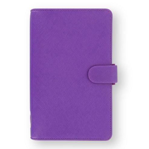 Filofax Compact Saffiano Organiser, Purple