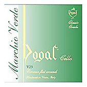 Dogal V23/E Green Series Cello String Set - 1/2 to 1/4