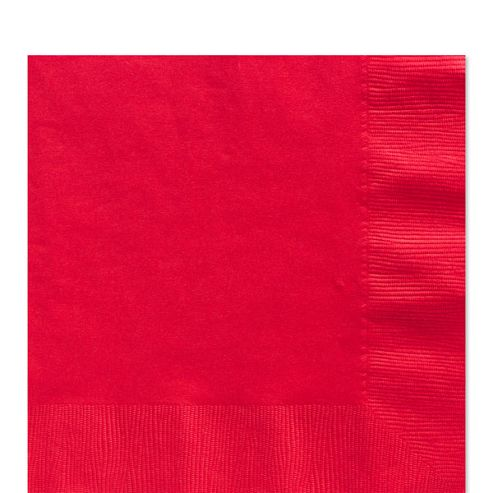 Red Luncheon Napkins - 2ply Paper