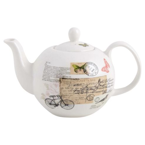 Vintage Postcard Teapot, Fine China