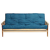 Java Double Futon With Mattress Teal