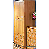 Welcome Furniture Corrib Wardrobe with 2 Drawer - 95.5 cm - Pine