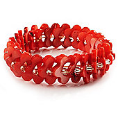 Coral Shell Stretch Bracelet
