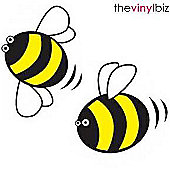 Set of 12, Bumblebee Wall Stickers