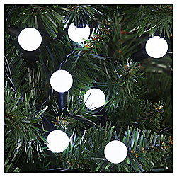 100 Berry Christmas Lights, White