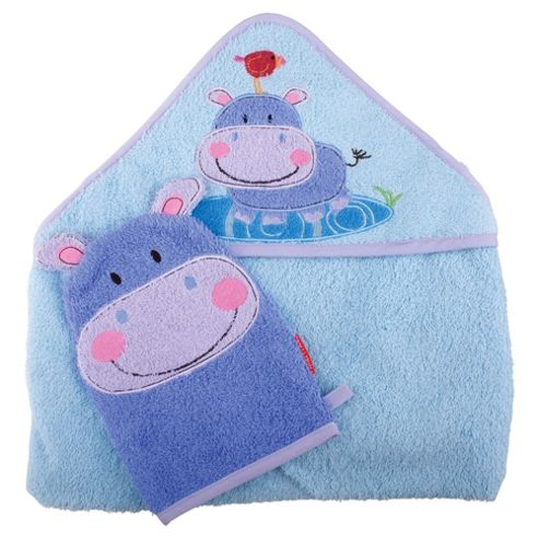 Fisher Price Discover and Grow Hooded Towel & Wash Mitt