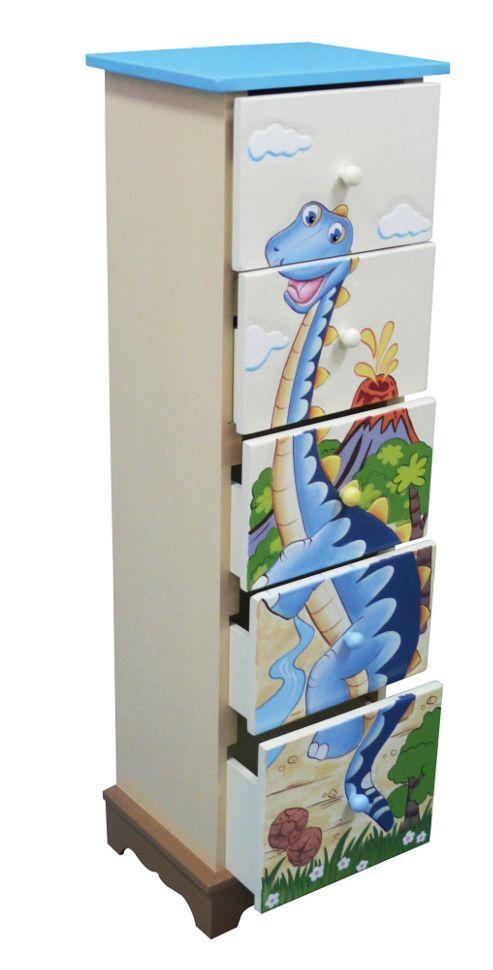 Teamson Dinosaur 5 Drawer Cabinet
