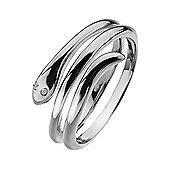 Lily & Lotty Sterling Silver 0.01ct Diamond DELILAH Ring