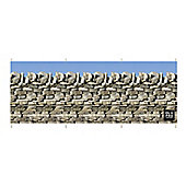 Stone Wall 4 Pole Windbreak