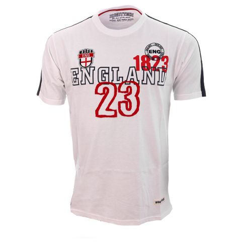 Rugbytech England Short Sleeved Rugby Shirt - White