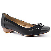 Emilio Luca X Ladies Gretel Black Low Heeled Court Shoes