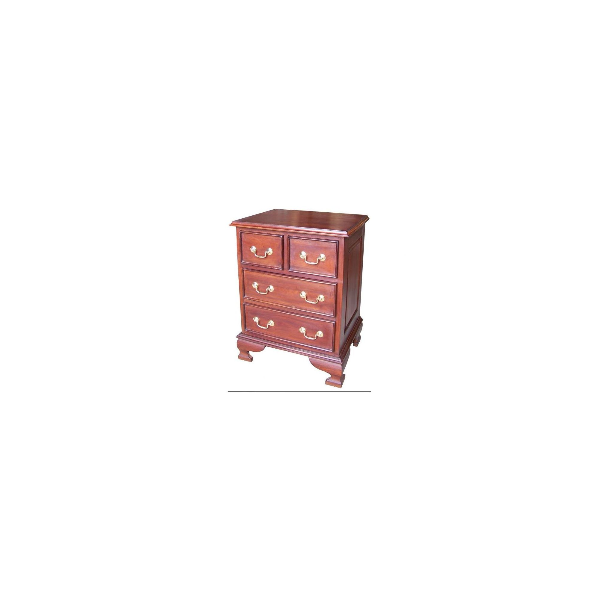 Lock stock and barrel Mahogany 4 Drawer Bedside Table in Mahogany - Wax at Tesco Direct
