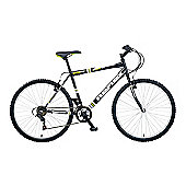 "22"" Reflex Parallax Mens' Bike, 18-Speed, Black"