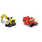Vtech Switch And Go Dinos - Turbo Digger The Wooly Mammoth And Turbo Bronco Rc Triceratops - 2 Items Supplied