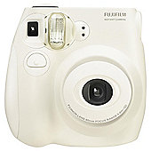 Fuji Instax Mini 7 Instant Camera, 10 Shot Bundle, White