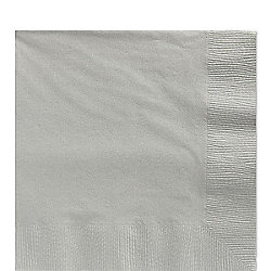 Silver Luncheon Napkins - 3ply Paper