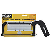 "Rolson 150mm (6"") Junior Hacksaw & Aluminium Mitre Box"