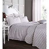 Catherine Lansfield Home Ditsy Duvet Cover Set Raspberry - Super King