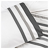 Grey Pleat Single Duvet Set