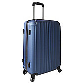 Tesco 4-Wheel Hard Shell Suitcase, Blue Medium