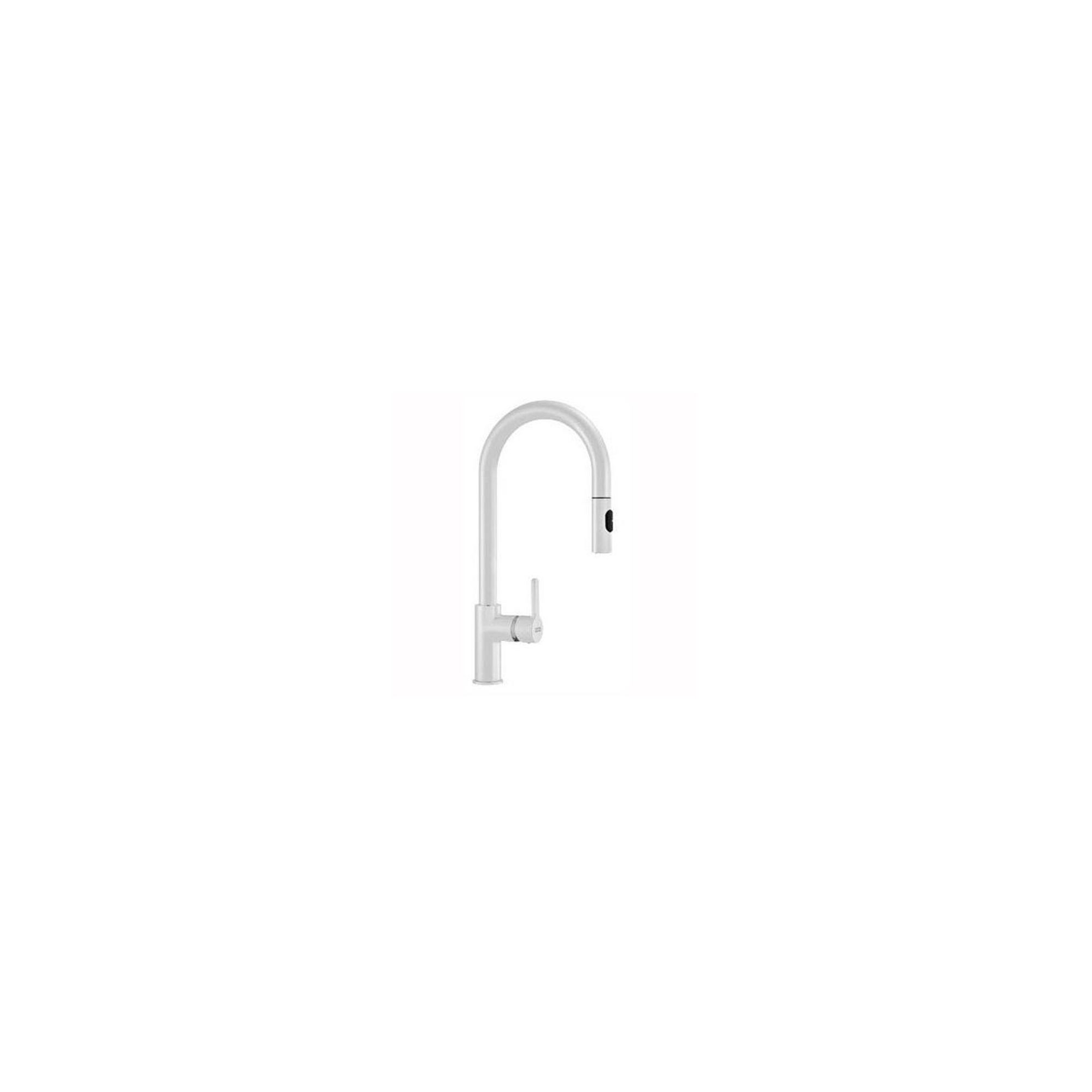 Franke Arena Single Lever Pull-Out Spray Kitchen Sink Mixer Tap, Matte White at Tesco Direct