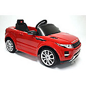 Kids Electric Car Range Rover Evoque 12 Volt Red Gloss