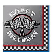 Racing Party Happy Birthday Napkins - Paper