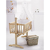 Clair De Lune Broderie Anglaise 4 Piece Rocking Crib Bedding Set