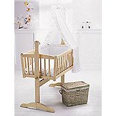 Clair De Lune Broderie Anglaise 4 Piece Rocking Crib Bedding Set