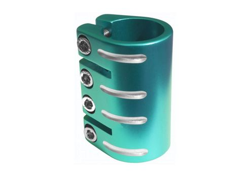 Blazer Pro Scooter Quad Bolt Alloy Clamp Teal