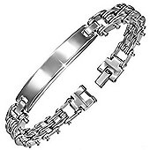 Urban Male Stainless Steel Bike Chain Look Link ID Bracelet
