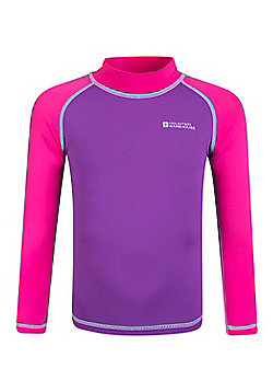 Mountain Warehouse Kids Long Sleeved Rash Vest - Pink