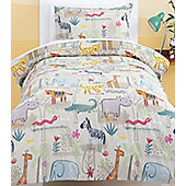 Jungle Animals Double Duvet