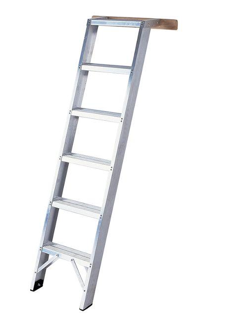 Heavy Duty 14 Tread Aluminium Shelf Ladder