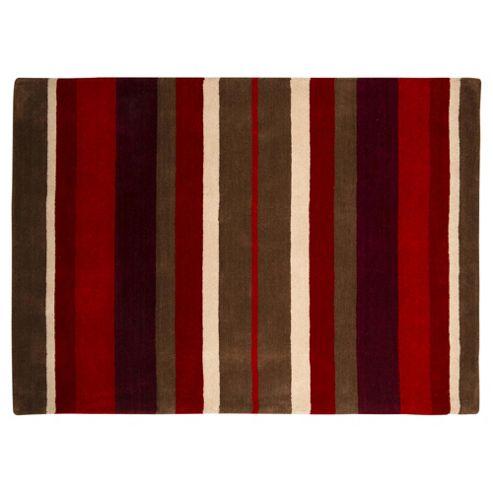 Wool Stripe Red 70x130