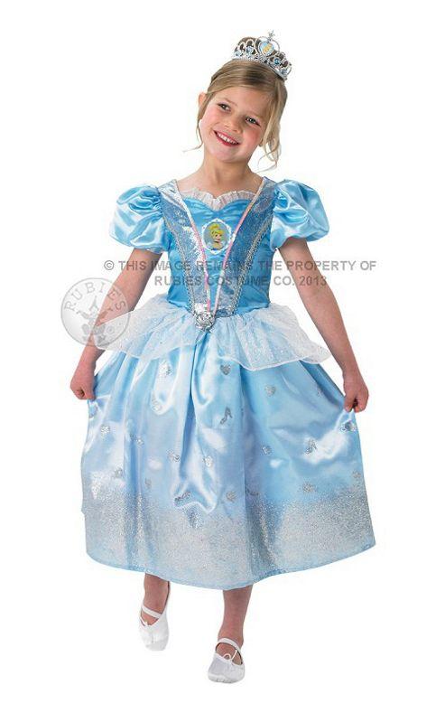 Rubie's Fancy Dress - Disney Princess - Cinderella Glitter Costume - CHILD SMALL UK 3-4 Years