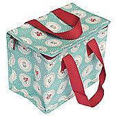 Vintage Doily lunchbag, Blue